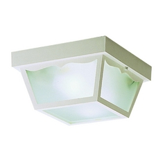 Kichler Modern Close To Ceiling Light with White in White Finish