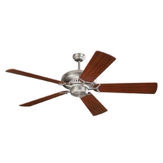 Ceiling Fan Without Light in Brushed Steel Finish