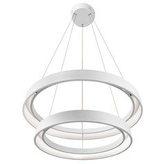 Elan Lighting Fornello Sand Textured White LED Pendant Light