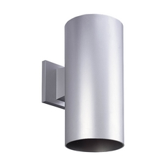 Progress Modern Outdoor Wall Light in Metallic Gray Finish