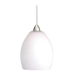 WAC Lighting Contemporary Collection Brushed Nickel LED Mini-Pendant with Bowl / Do