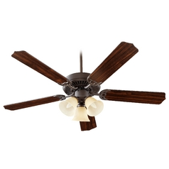 Quorum Lighting Capri Vi Oiled Bronze Ceiling Fan with Light