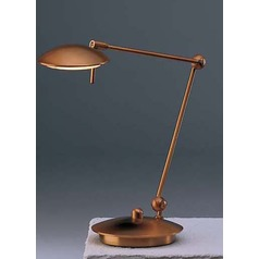Antique Brass LED Swing Arm Lamp