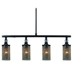 Kenroy Home Chloe Oil Rubbed Bronze Island Light with Cylindrical Shade