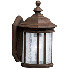 Kichler Outdoor Wall Light with Clear Glass in Tannery Bronze Finish