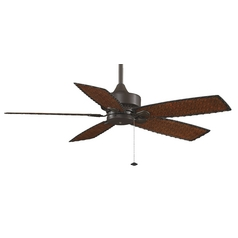 Ceiling Fan Without Light in Oil-Rubbed Bronze Finish