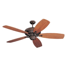 Transitional Ceiling Fan Without Light in Roman Bronze Finish
