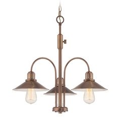 Designers Fountain Newbury Station Old Satin Brass Chandelier