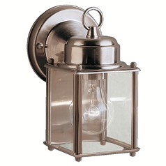 Kichler Outdoor Wall Light with Clear Glass in Stainless Steel Finish