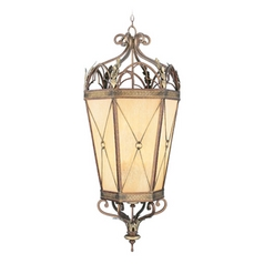 Livex Lighting Bristol Manor Palacial Bronze with Gilded Accents Pendant Light with Hexagon Shade