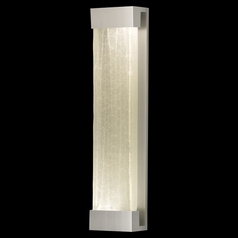 Fine Art Lamps Crystal Bakehouse Silver Sconce