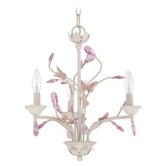 Jeremiah Lighting Antique Linen Mini-Chandelier