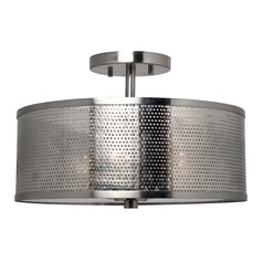 Kenroy Home Mesha Brushed Steel Semi-Flushmount Light