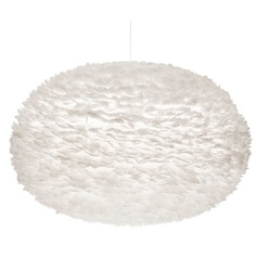 UMAGE White Pendant Light with Bowl / Dome Shade