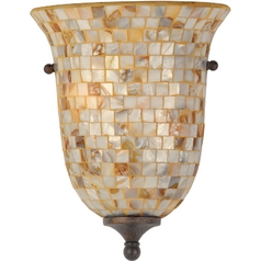 Sconce Wall Light with Multi-Color Glass in Malaga Finish
