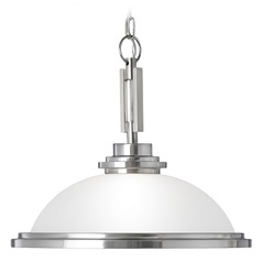 Sea Gull Lighting Winnetka Brushed Nickel Pendant Light