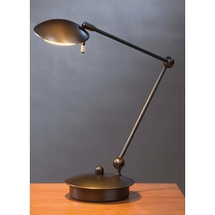 Hand Brushed Old Bronze LED Swing Arm Lamp