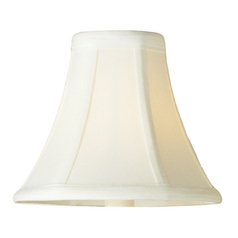 Frosted Ivory Bell Lamp Shade with Uno Assembly