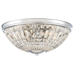 Minka Lavery Palermo Chrome Flushmount Light