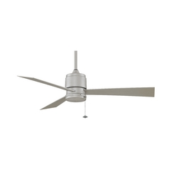 Fanimation Fans Modern Ceiling Fan Without Light in Satin Nickel Finish FP4640SN