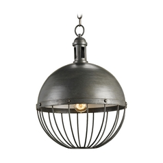 Farmhouse Pendant Light Gray Verne by Currey and Company Lighting