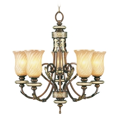 Livex Lighting Bristol Manor Palacial Bronze with Gilded Accents Chandelier