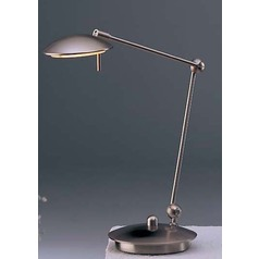 Satin Nickel LED Swing Arm Lamp