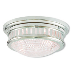 Livex Lighting Berwick Polished Nickel Flushmount Light