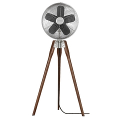Floor Fan in Satin Nickel Finish
