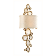 Corbett Lighting Fame & Fortune Brazilian Silver Lea Sconce