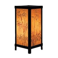 Porcelain Garden Lighting Bamboo Motif Lithophane Accent Lamp LT-06