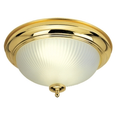 Livex Lighting Polished Brass Flushmount Light