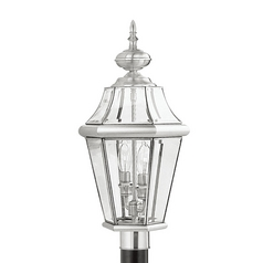 Livex Lighting Georgetown Brushed Nickel Post Light