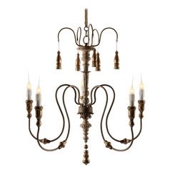 Aidan Gray Home Chipped Creams, Gold Chandelier