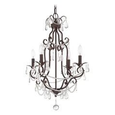 Jeremiah Lighting Aged Bronze Textured Mini-Chandelier