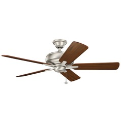 Ceiling fan without light energy efficient ceiling fans kichler lighting terra brushed nickel ceiling fan without light aloadofball Choice Image
