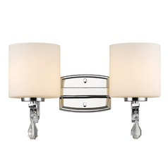 Golden Lighting Evette Chrome Bathroom Light