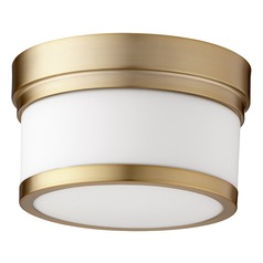 Quorum Lighting Celeste Aged Brass Flushmount Light