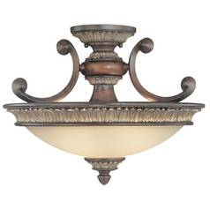 Two-Light Semi-Flush Ceiling Light