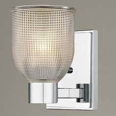 Prismatic Glass Sconce Chrome