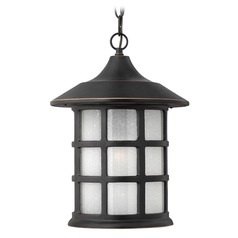 LED Outdoor Hanging Light with White Glass in Olde Penny Finish