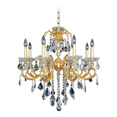 Praetorius 8 Light Crystal Chandelier w/ French Gold 24k
