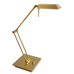 Genesis Polished Brass/brushed Brass LED Swing Arm Lamp