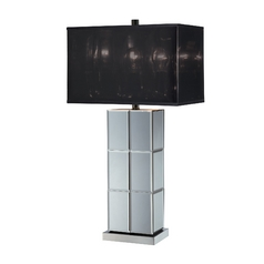 Lite Source Lighting Dario Mirror Table Lamp with Rectangle Shade