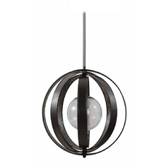 Modern Pendant Light with Clear Glass in Matte Black Finish