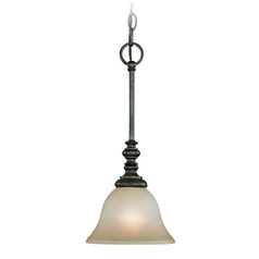 Jeremiah Barrett Place Mocha Bronze Mini-Pendant Light with Bell Shade