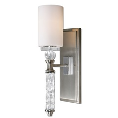 Uttermost Campania 1 Light Carved Glass Wall Sconce