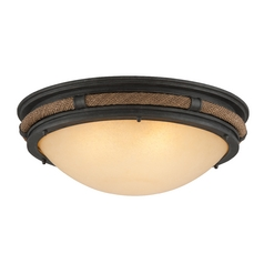 Troy Lighting Pike Place Shipyard Bronze Flushmount Light