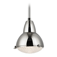 Mid-Century Modern Pendant Light Polished Nickel Belmont by Hudson Valley Lighting
