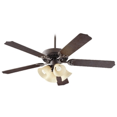 Quorum Lighting Capri Vii Toasted Sienna Ceiling Fan with Light